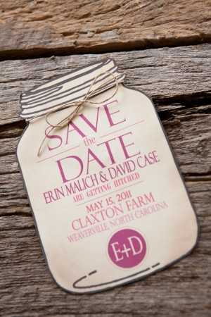 Burlap-Pink-Monogram-Wedding-Invitation-Mason-Jar-Save-the-Date-300x450